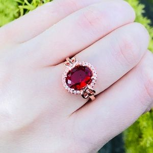 Jewelry - New 925 sterling silver red sapphire ring
